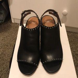 Givenchy sling back chunky heel sandal with studs